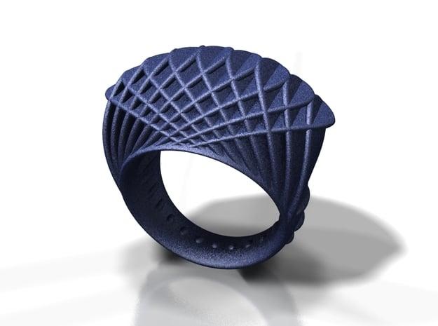 ring-dubbelbol / double concave in Black Natural Versatile Plastic: 6 / 51.5