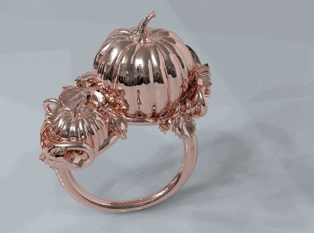 Thanksgiving in 14k Rose Gold Plated Brass: 11 / 64