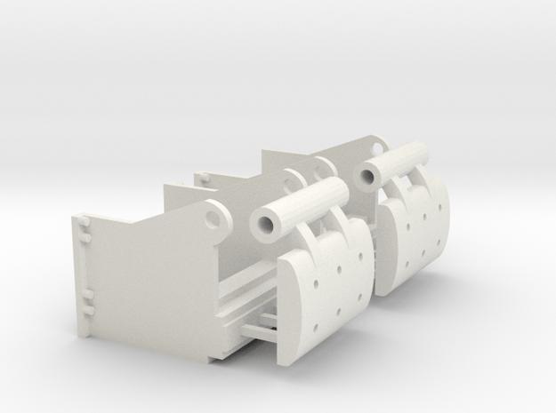 Corgi Euclid TC-12 Push Blocks Set of 2 in White Natural Versatile Plastic