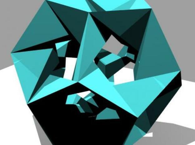Icosahedron stellation in White Natural Versatile Plastic