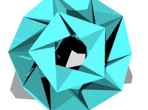 Icosahedron stellation (small) in White Natural Versatile Plastic