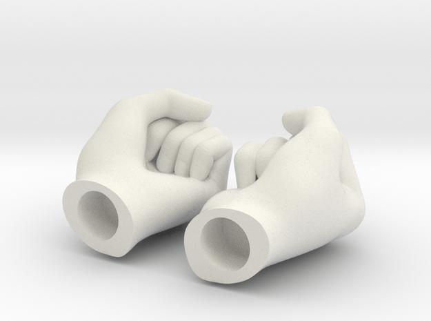 Fists 1:6 scale in White Natural Versatile Plastic