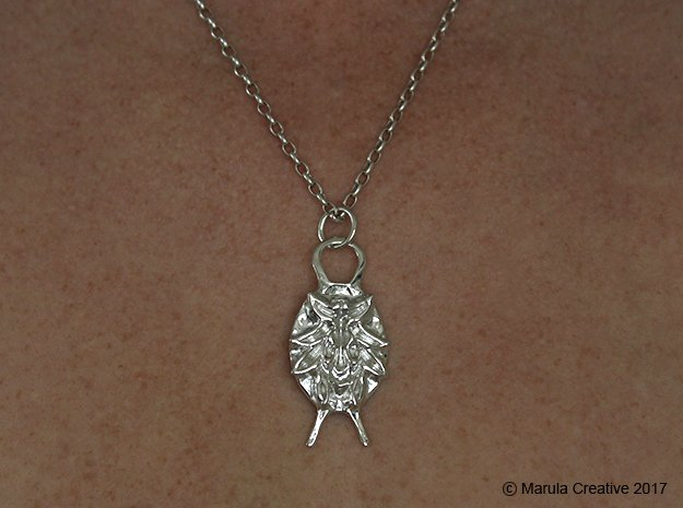 SMK Persian Charm (Gijsbrechts) - with ring in Polished Silver (Interlocking Parts)