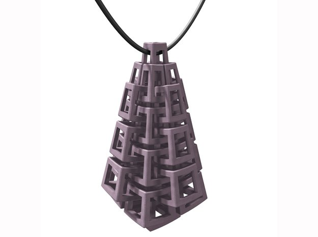 Kubus-hanger / Cubes pendant in Black Natural Versatile Plastic