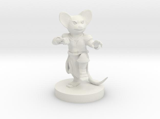 Mousefolk Monk in White Natural Versatile Plastic