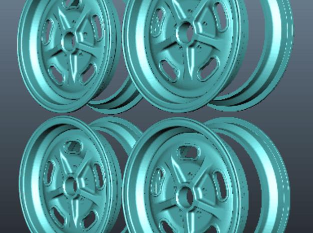 1/8 scale Wheel set  in White Natural Versatile Plastic