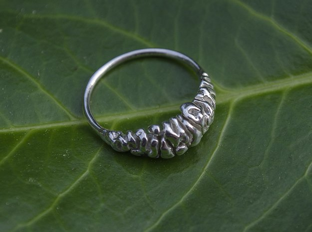 Brainring (size 60) in Polished Silver