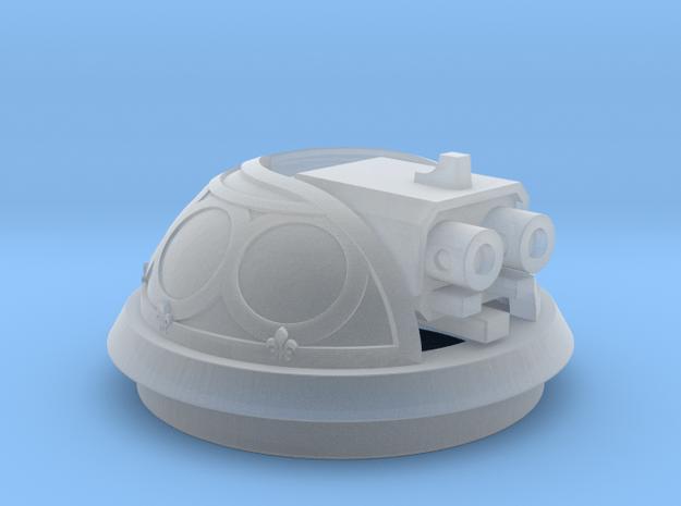 Bubble Canopy Gun - Fleur de Lis in Smooth Fine Detail Plastic