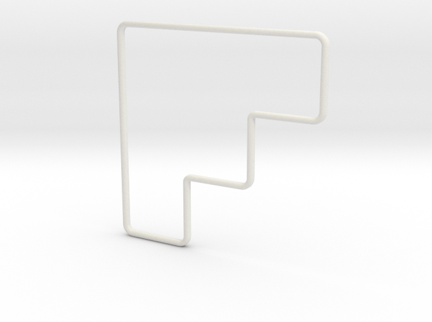 15-foot Cone Template - Angled in White Natural Versatile Plastic