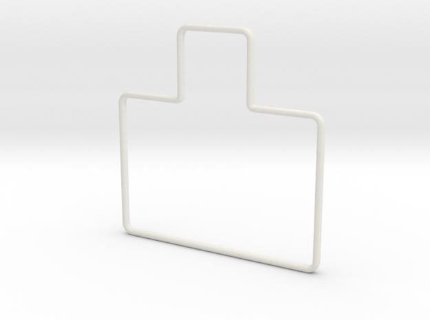 15-Foot Cone Template - Straight in White Natural Versatile Plastic