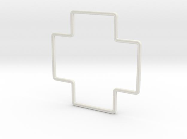 10-ft Radius Circle Template in White Natural Versatile Plastic