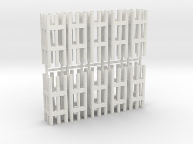 Duckdalben 8er rund 10erSet 1:120 in White Natural Versatile Plastic