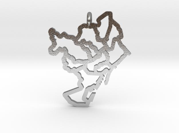Barcelona Pendant in Natural Silver