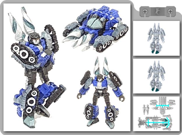 "01-GDT ""Crusader"" in White Natural Versatile Plastic"