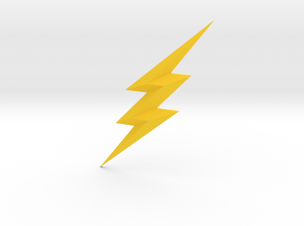 Justice League The Flash Chest Emblem  in Yellow Processed Versatile Plastic