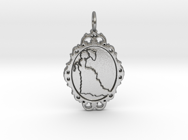 Victorian Cameo / Valentine's gift in Natural Silver