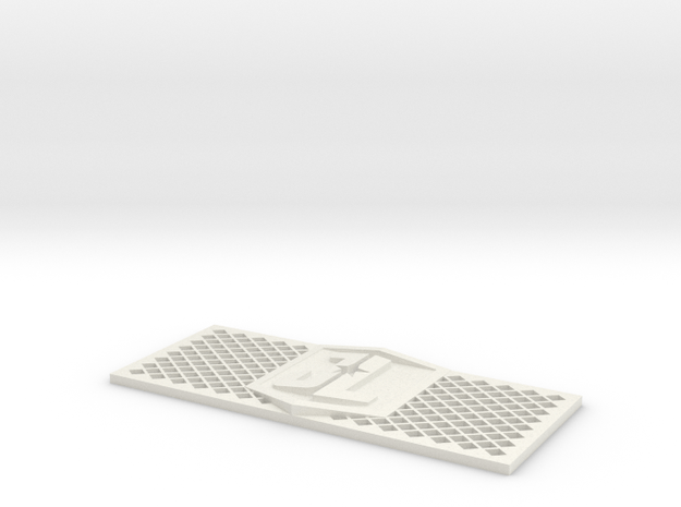 Justice League RC4WD D90/D110 grill in White Natural Versatile Plastic