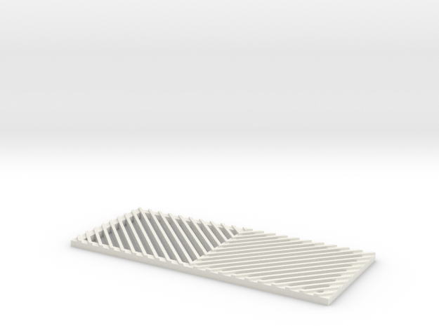 V-Pattern Grill for RC4WD D90/D110 in White Natural Versatile Plastic