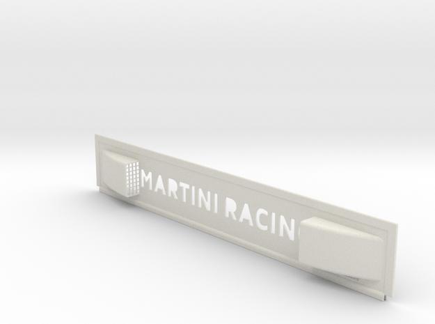 """Lancia Delta 1 """"Martini Racing"""" window Shield 3 in White Natural Versatile Plastic"""