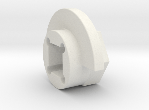 DX4 wheel adapter BS=11mm in White Natural Versatile Plastic