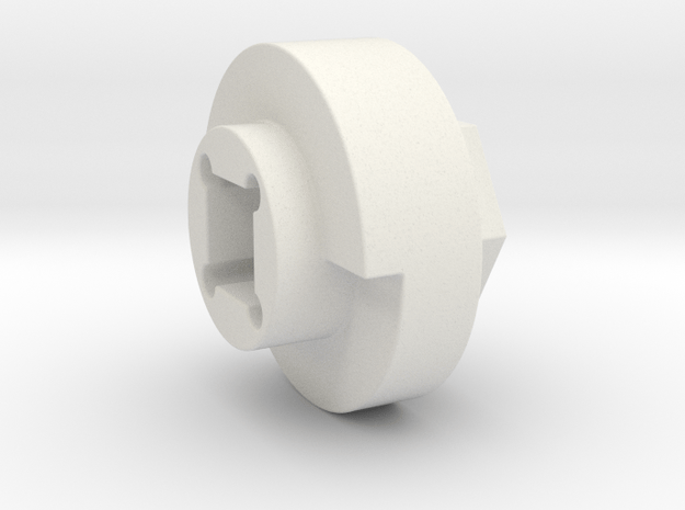 DX4 wheel adapter BS=16mm in White Natural Versatile Plastic