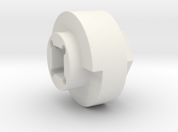 DX4 wheel adapter BS=17mm in White Natural Versatile Plastic