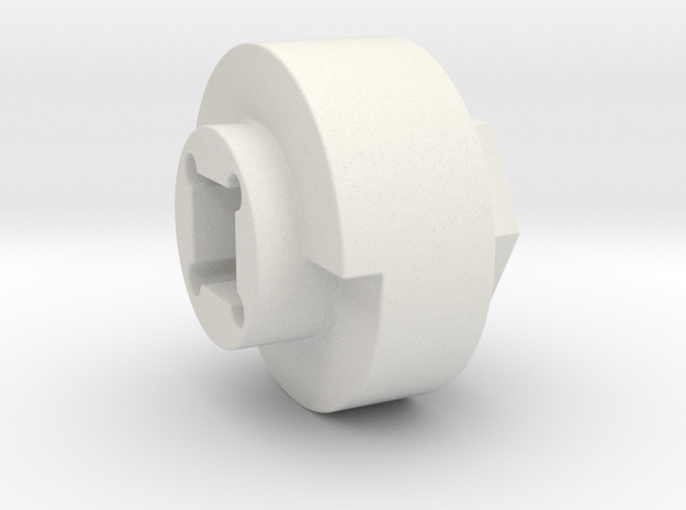 DX4 wheel adapter BS=18mm in White Natural Versatile Plastic