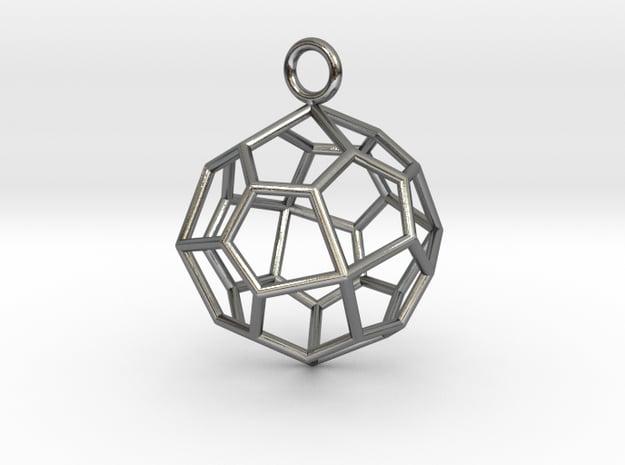 Pendant_Pentagonal-Icositetrahedron in Polished Silver