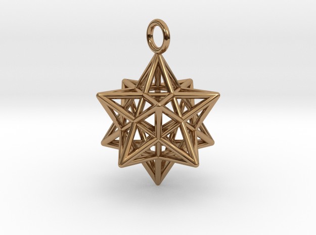 Pendant_Pentagram-Dodecahedron in Polished Brass