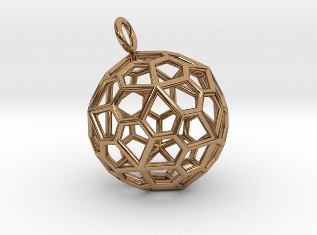 Pendant_Pentagonal-Hexecontahedron in Polished Brass