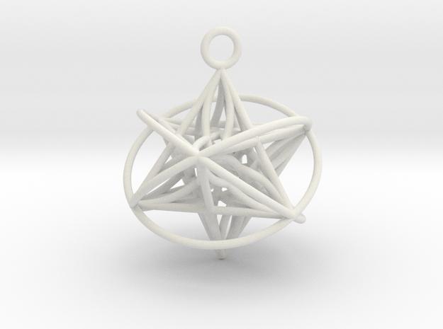 Pendant_Star of Life - Orbital in White Natural Versatile Plastic