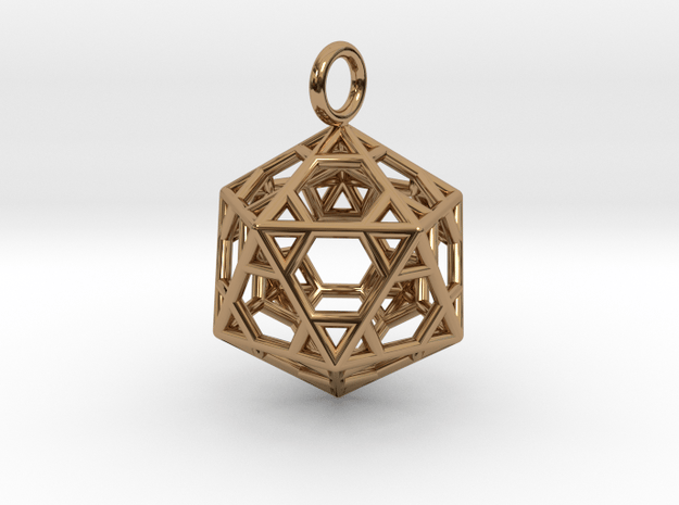 Pendant_Hexagonal-Icosahedron in Polished Brass