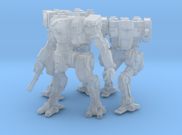 Neugen Combat Team of 3 walkers (2 inch version) in Smooth Fine Detail Plastic: Small