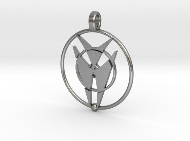 Peridgmus Orin Pendant in Natural Silver