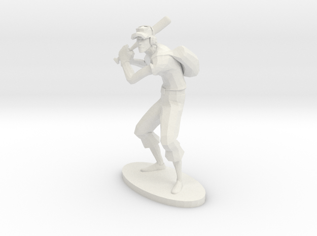 TF2 Scout RED Miniature in White Natural Versatile Plastic: Extra Small