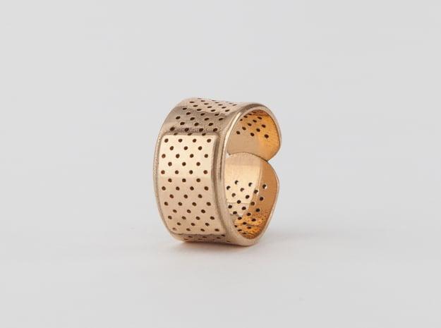 Bandage Ring in Polished Bronze: 7 / 54