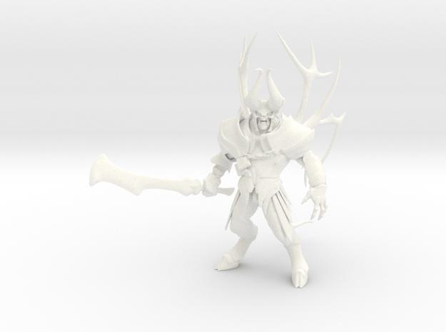 Dota2 figurine : Doom in White Processed Versatile Plastic