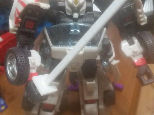 Simple transformers ninja sword in White Natural Versatile Plastic