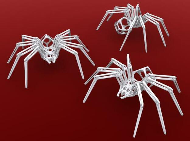 Arachna (small) in White Natural Versatile Plastic