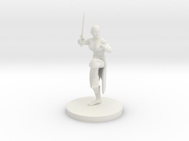 Female Sword Monk in White Natural Versatile Plastic