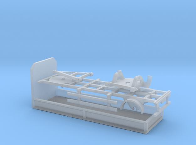 2ax Anhänger mit Prtische Spur N 1:160 in Smooth Fine Detail Plastic