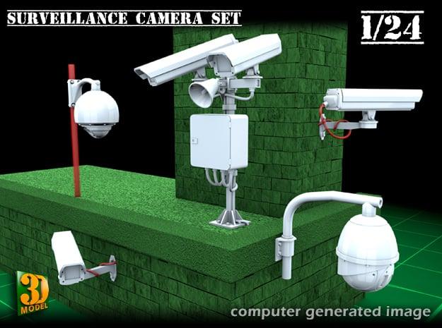 Surveillance cameras (1/24) in Smooth Fine Detail Plastic