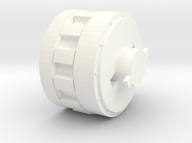 AA_Adapter_Gun_Mount in White Processed Versatile Plastic