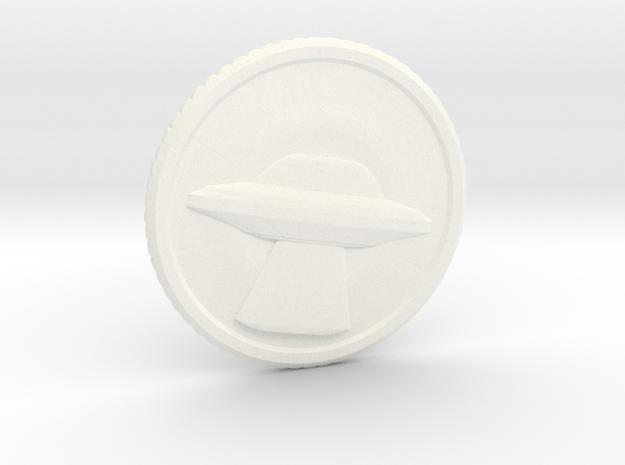 """Invasion coin (1.4"""") in White Processed Versatile Plastic"""