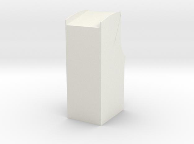 "3"" Arcade Cabinet - Desk Toy in White Natural Versatile Plastic"