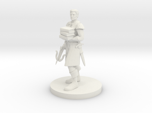 Librarian Ranger in White Natural Versatile Plastic