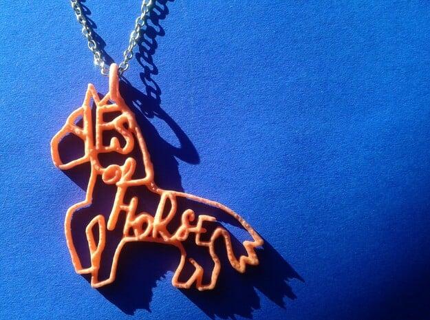 Yes of Horse! in Orange Processed Versatile Plastic