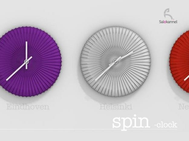 SPIN-wall clock in White Natural Versatile Plastic