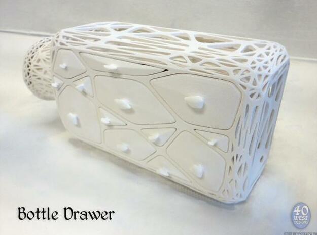 Bottle Drawer in White Natural Versatile Plastic