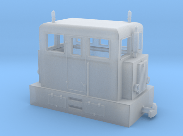 "Diesel loco H0e ""PocketBahn"" in Smooth Fine Detail Plastic"